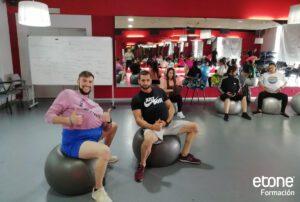 Ejercicios del curso de fitness de granada